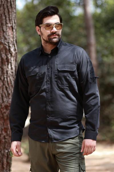 Cabot Siyah Taktik Gömlek